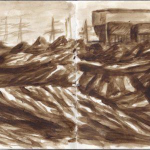Sketchbook Drawing - Acrylic