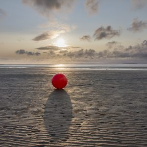 Lost Buoy at Sunset - Photograph