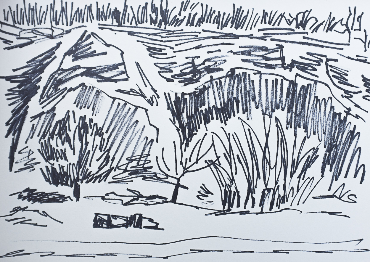 On location Sketch, Trowbarrow, LancashireSkech