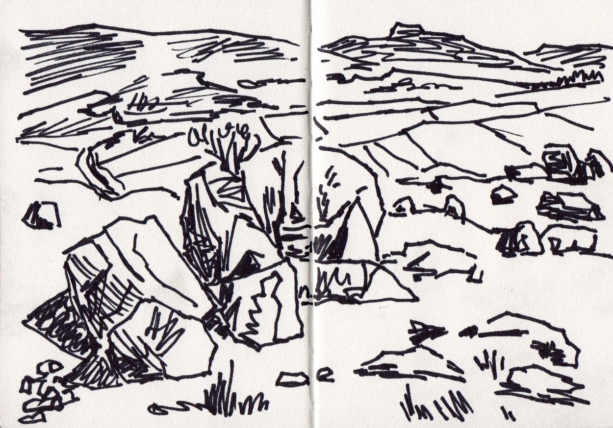 Sketchbook Drawing - Marker Pen